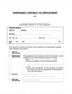 Costum Staffing Agency Contract Template Excel
