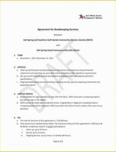 Editable Accounting Services Contract Template