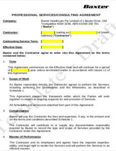 Editable Business Consulting Contract Template Word Sample