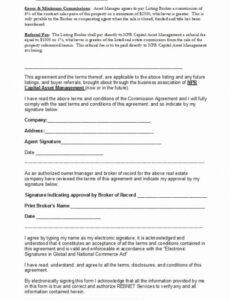 Editable Individual Commission Contract Template  Example