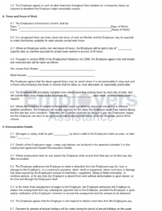 Editable Part Time Employment Contract Template