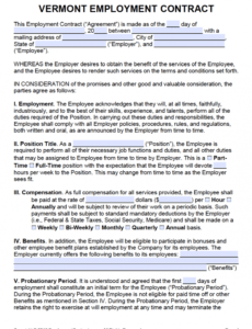Free Hourly Employee Contract Template Pdf Example