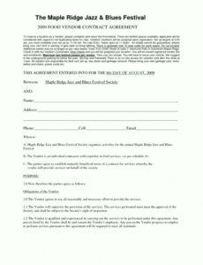 Free Restaurant Consulting Contract Template  Example