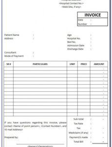 Medical Billing Contract Template Word Sample