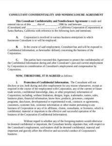 Printable Business Consulting Contract Template