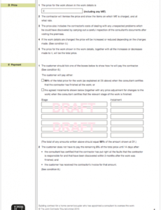 Printable Cost Plus Construction Contract Template Excel