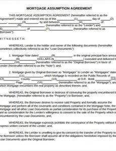 Printable Private Mortgage Contract Template Word