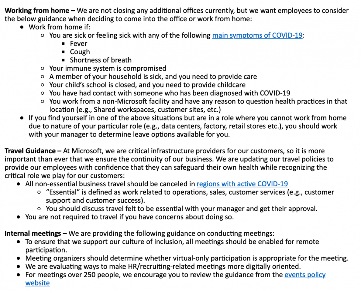 Printable Working From Home Policy Template Pdf Sample