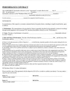 Professional Dj Contract Agreement Template Doc Sample