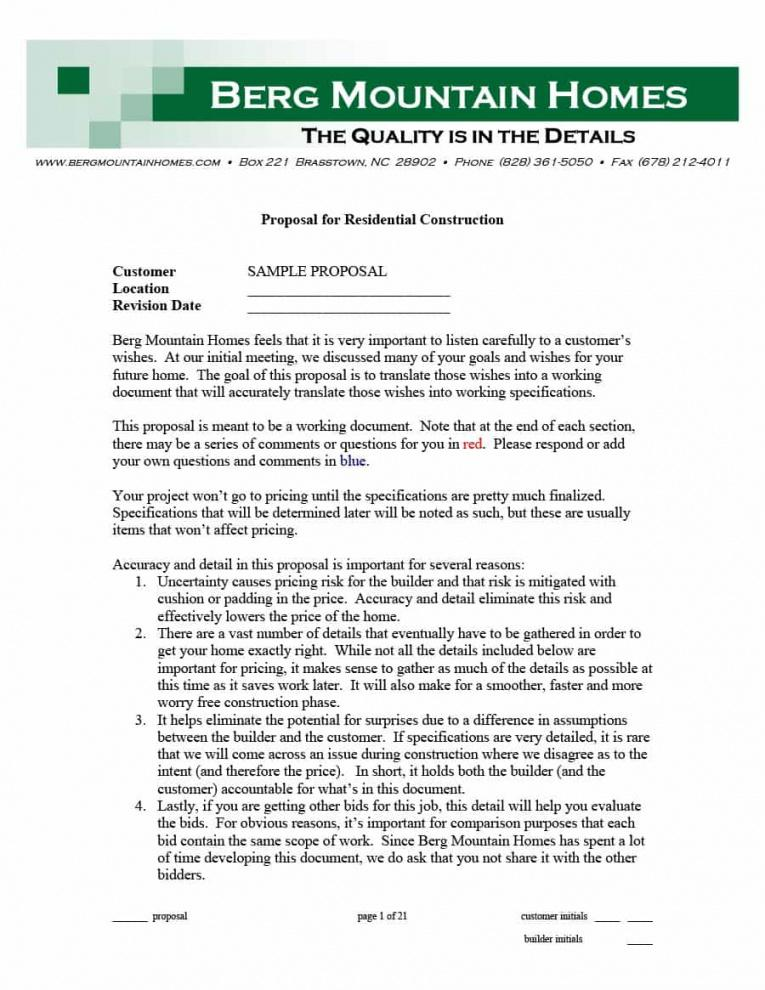 Professional Fixed Price Construction Contract Template Excel Example