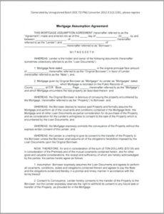 Professional Private Mortgage Contract Template Pdf