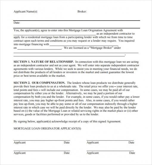 Professional Private Mortgage Contract Template
