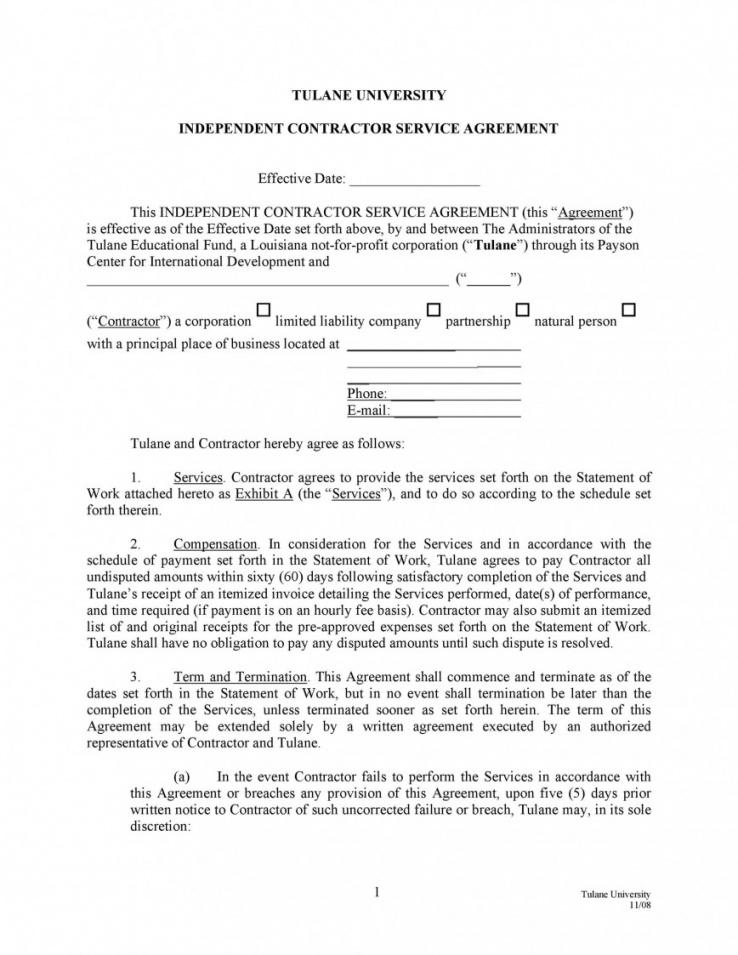 Speaker Engagement Contract Template Word Sample