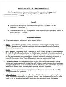 Sports Agent Contract Template