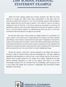Best College Personal Statement Template Doc Example