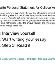 Best College Personal Statement Template Pdf