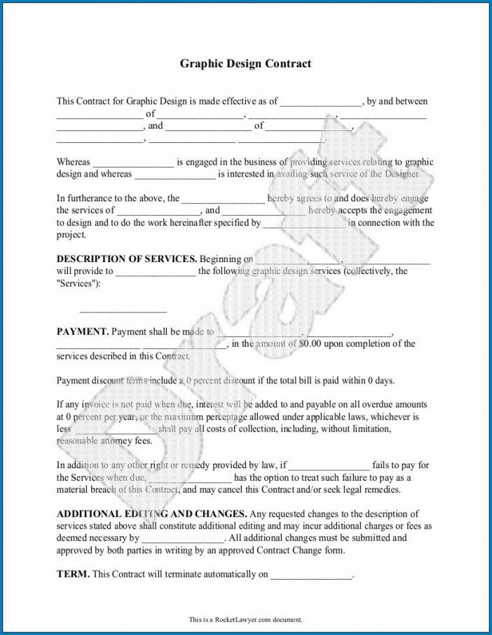 Best Freelance Graphic Design Contract Template Pdf