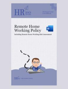 Best Work From Home Policy Template