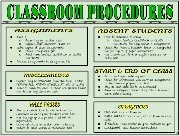 Editable Classroom Mission Statement Template Excel Sample