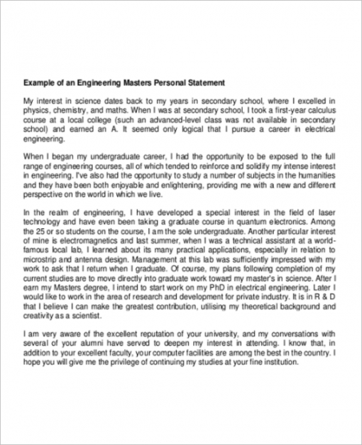 Editable College Personal Statement Template Pdf