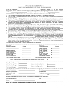 Editable Facility Use Contract Template Excel Example