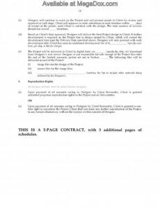 Editable Freelance Graphic Design Contract Template Doc Sample