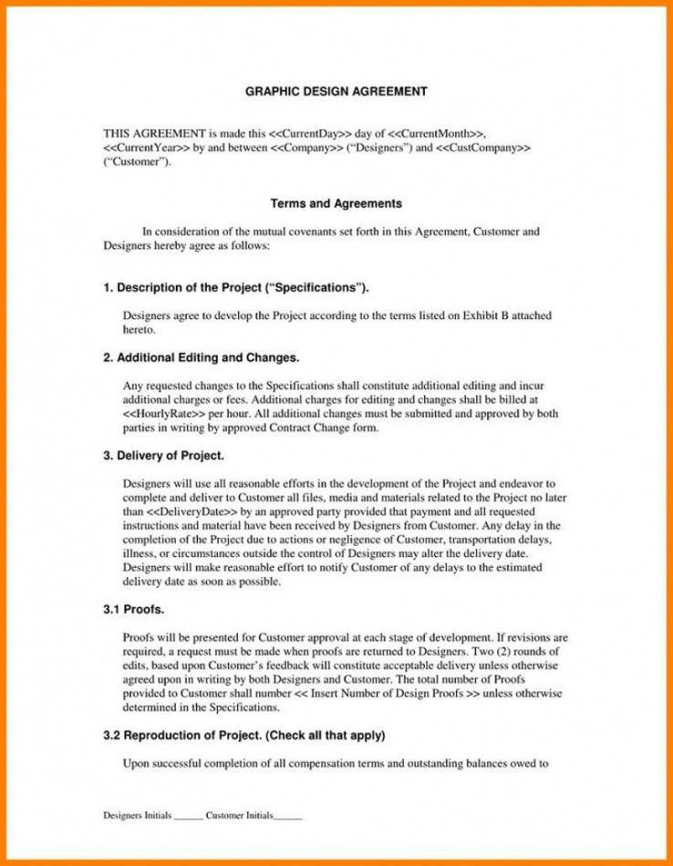 Editable Freelance Graphic Design Contract Template Pdf Example