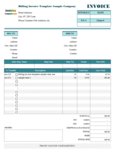 Free Patient Billing Statement Template  Example