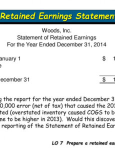Free Retained Earning Statement Template Word