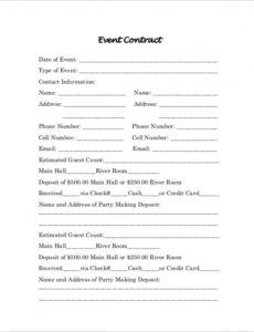 Free Wedding Decorator Contract Template Excel Sample