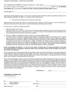 Informal Commission Contract Template Pdf Sample