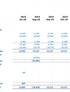 Printable Daycare Income Statement Template Excel Sample