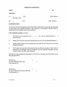 Printable Facility Use Contract Template Excel