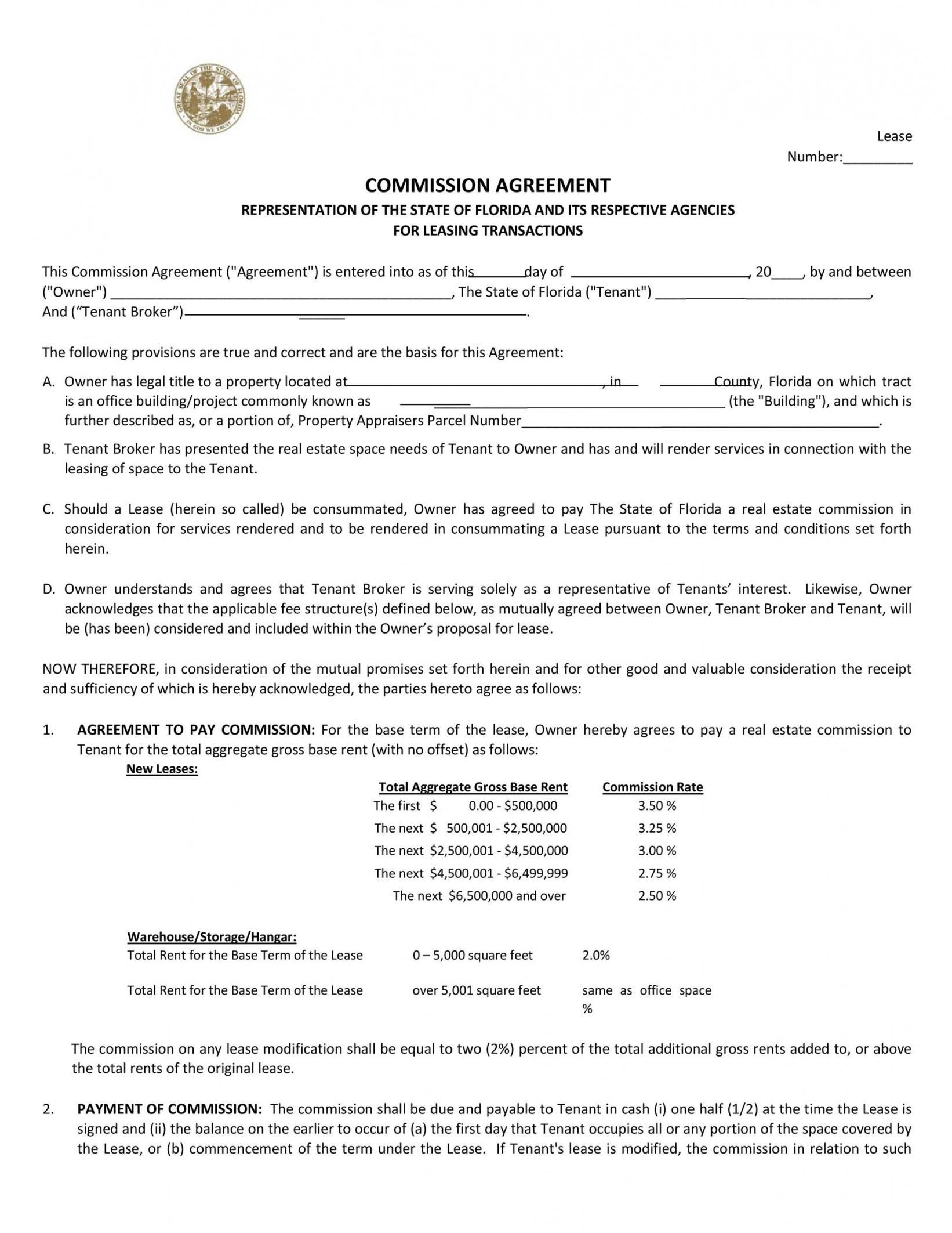 Printable Informal Commission Contract Template Pdf