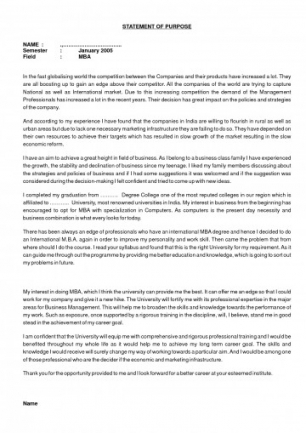 Study Abroad Personal Statement Template
