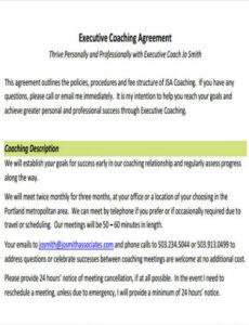 Best Business Coaching Contract Template Word