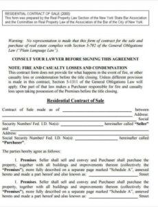 Best House Selling Contract Template Doc