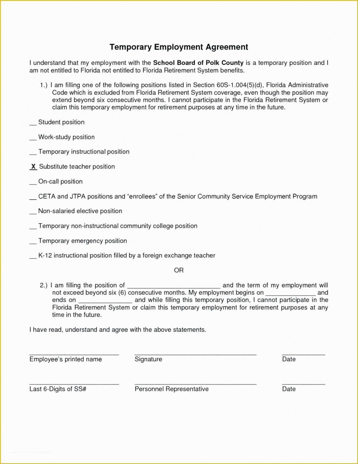 Best Part Time Employee Contract Template Pdf Sample