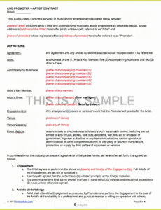Best Promoters Contract Template Excel