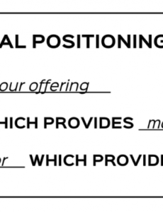 Brand Positioning Statement Template Doc Sample