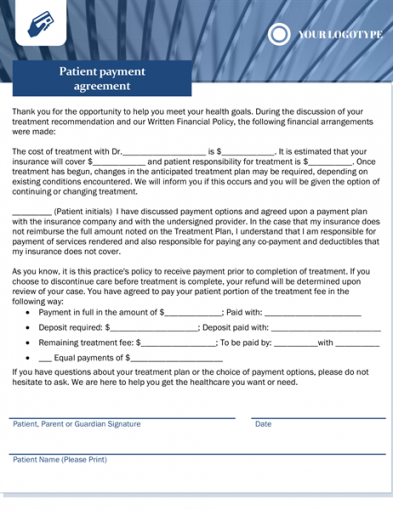 Costum Medical Billing Service Contract Template Doc Example
