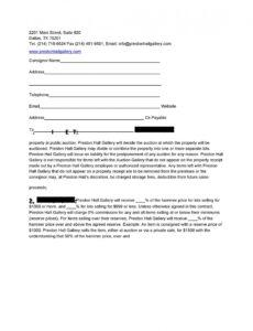 Editable Consignment Shop Contract Template Pdf Example