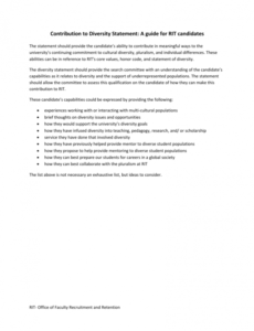 Editable Diversity Policy Statement Template Excel