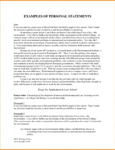 Editable Personal Statement For Grad School Template Word Example