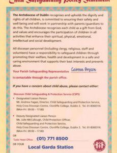 Free Church Child Protection Policy Template Pdf Sample