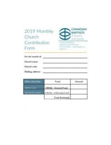 Free Church Giving Statement Template Word Sample
