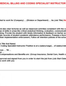 Free Medical Billing Service Contract Template  Example