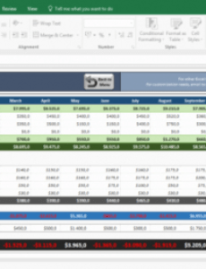 Free Owner Operator Profit And Loss Statement Template