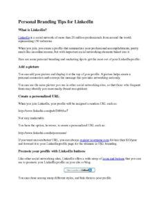 Free Personal Brand Statement Template Doc Sample
