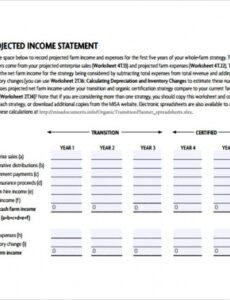 Printable 5 Year Income Statement Template Doc